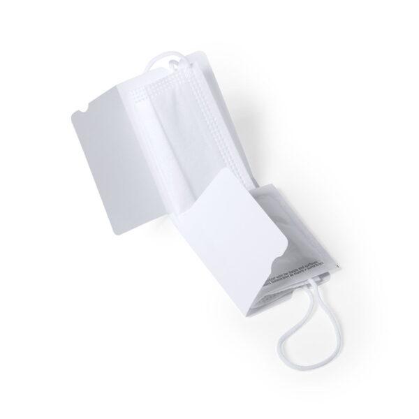 Kit de mascarilla, toallita y portamascarilla mini personalizado 3