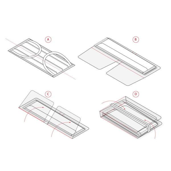 Kit de mascarilla, toallita y portamascarilla mini personalizado 4