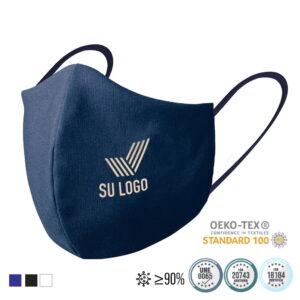 Mascarillas personalizadas reutilizables homologadas con tratamiento higienizante (algodón y poliéster)