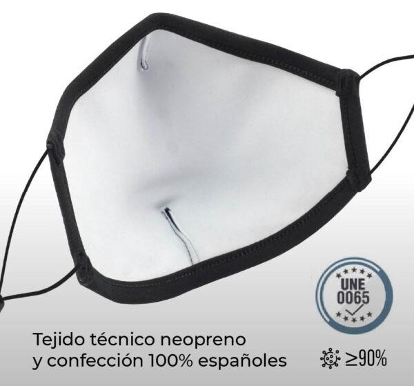 Mascarillas reutilizables de Neopreno personalizadas 2